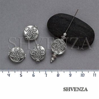 Металлические бусины цвет античное серебро 007-062 - фото 7821