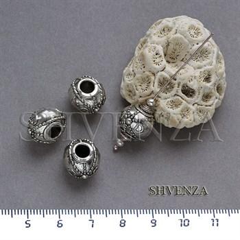 Металлические бусины цвет античное серебро 007-063 - фото 7823
