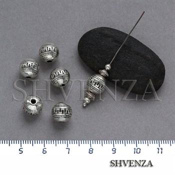 Металлические бусины цвет античное серебро 007-067 - фото 7831