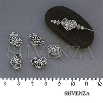 Металлические бусины цвет античное серебро 007-069 - фото 7835