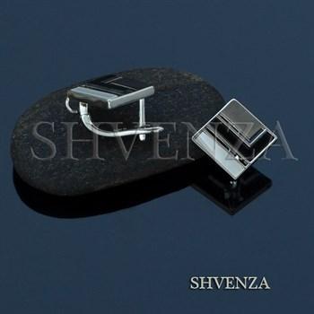 Швензы родиевое покрытие цвет серебро английский замок 017-089 - фото 8029