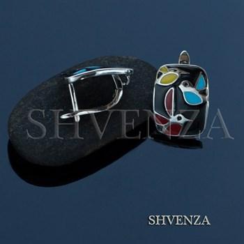 Швензы родиевое покрытие цвет серебро английский замок 017-091 - фото 8035