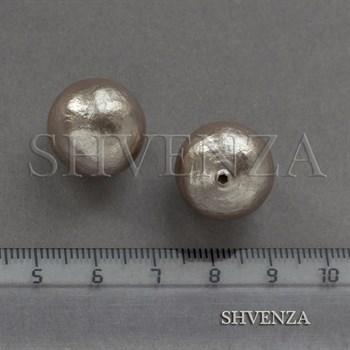 Жемчуг хлопковый полупросверленный круглый 023-012 - фото 8060
