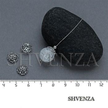Шапочки для бусин родиевое покрытие цвет серебро 021-130 - фото 8104