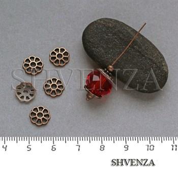 Шапочки для бусин цвет медь 001-121 - фото 8135