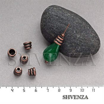 Шапочки для бусин цвет медь 001-122 - фото 8137
