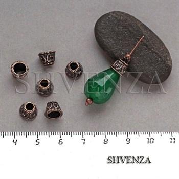 Шапочки для бусин цвет медь 001-124 - фото 8141