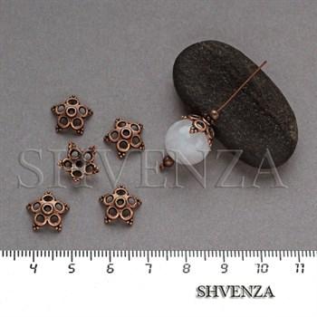 Шапочки для бусин цвет медь 001-125 - фото 8143
