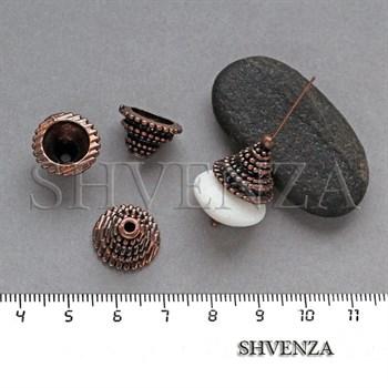 Шапочки для бусин концевики цвет медь 001-133 - фото 8159