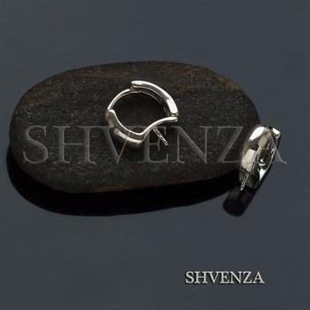 Швензы со штифтом родиевое покрытие цвет серебро 017-094 - фото 8171