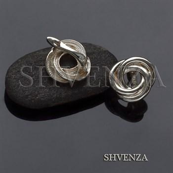 Швензы родиевое покрытие цвет серебро английский замок 017-105 - фото 8229