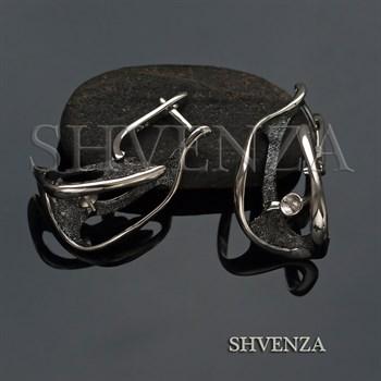 Швензы со штифтом родиевое покрытие цвет серебро английский замок 017-107 - фото 8234