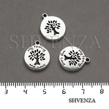 Подвеска металлическая Дерево цвет серебро 005-027 - фото 8242
