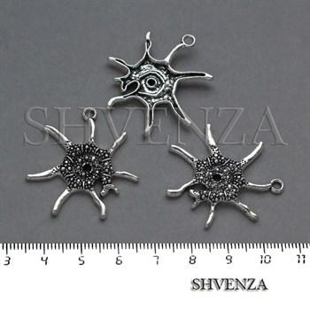 Подвеска металлическая Морская цвет серебро 005-038 - фото 8270