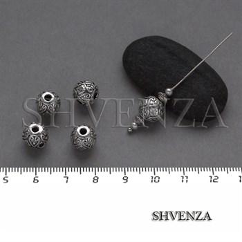 Металлические бусины цвет античное серебро 007-094 - фото 8333