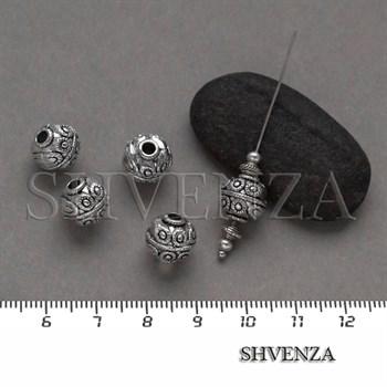 Металлические бусины цвет античное серебро 007-099 - фото 8348