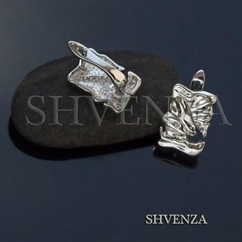 Швензы родиевое покрытие цвет серебро английский замок 017-113 - фото 8372