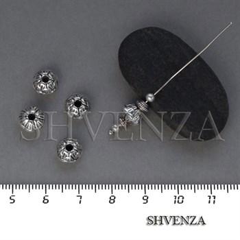 Металлические бусины цвет античное серебро 007-108 - фото 8427