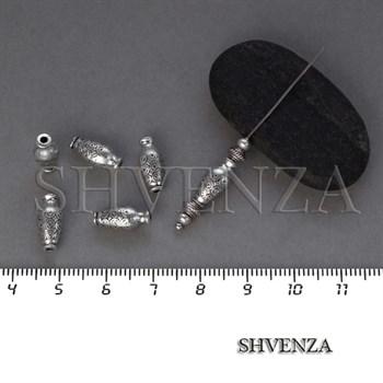 Металлические бусины цвет античное серебро 007-110 - фото 8431