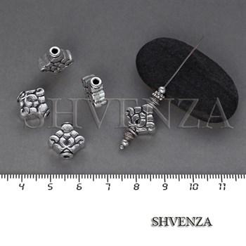 Металлические бусины цвет античное серебро 007-122 - фото 8469