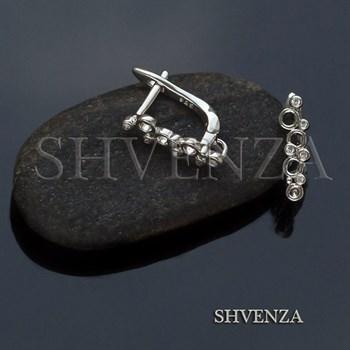 Швензы родиевое покрытие цвет серебро английский замок 014-273 - фото 8481