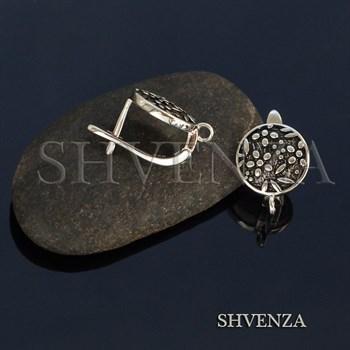 Швензы родиевое покрытие цвет серебро английский замок 017-117 - фото 8487
