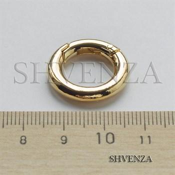 Замочек круглый с покрытием родием цвет золото 011-030 - фото 8562
