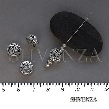 Металлические бусины цвет античное серебро 007-129 - фото 8635