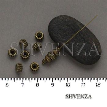 Металлические бусины рондели цвет бронза 007-161 - фото 8730