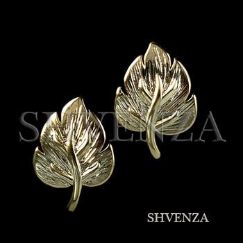 Швензы родиевое покрытие цвет золото английский замок 017-126 - фото 8740