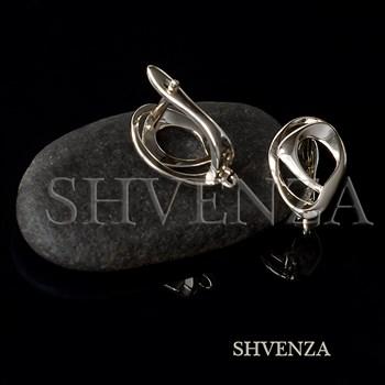 Швензы родиевое покрытие цвет серебро английский замок 017-144 - фото 8749