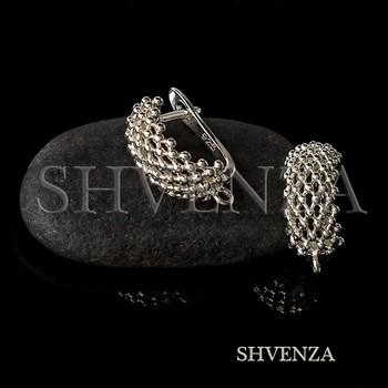 Швензы родиевое покрытие цвет серебро английский замок 017-150 - фото 8761