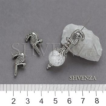 Металлические бусины туканы цвет античное серебро 007-170 - фото 8818