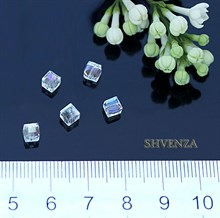 Бусины кубики стекло 008-001