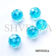 Бусины голубое стекло 008-011