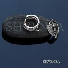 Швензы родиевое покрытие цвет серебро колечки 014-197