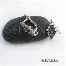 Швензы родиевое покрытие цвет серебро английский замок 014-214