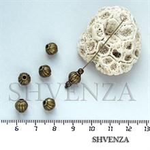 Металлические бусины цвет бронза 007-014