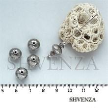 Металлические бусины рондели цвет серебро 007-030
