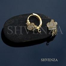 Швензы короны родиевое покрытие цвет золото колечки 013-133