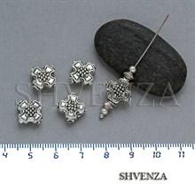 Металлические бусины цвет античное серебро 007-058