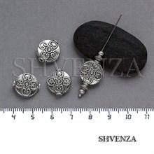 Металлические бусины цвет античное серебро 007-062