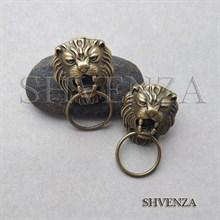 Пуссеты - гвоздики Львы цвет бронза 004-065