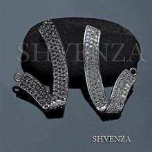 Декоративный элемент цвет серебро 021-115