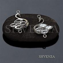Коннектор лебедь цвет серебро 021-121