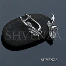 Швензы родиевое покрытие английский замок цвет серебро 014-252