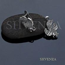 Швенза птицы мельхиор с серебрением английский замок 017-084