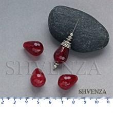 Бусины халцедон красный капля 006-070