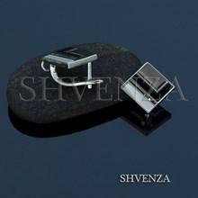 Швензы родиевое покрытие цвет серебро английский замок 017-089