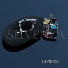 Швензы родиевое покрытие цвет серебро английский замок 017-091